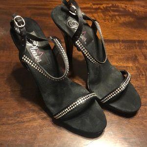 Pleaser Flair 422 Ankle Strap Heels Sz 8